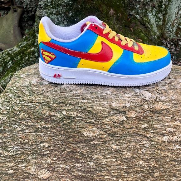 Nike Shoes | Custom Made Superman Air